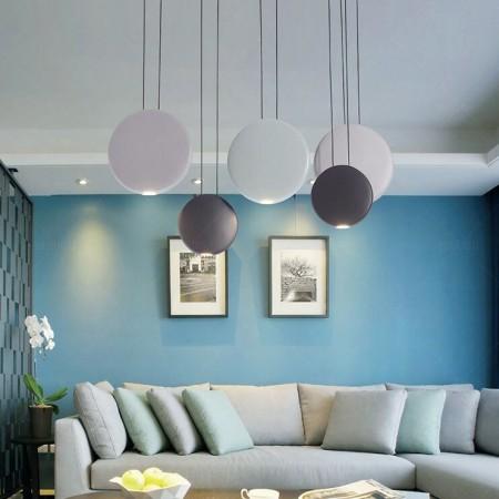 后现代艺术餐厅吊灯北欧简约餐桌床头卧室三头圆形