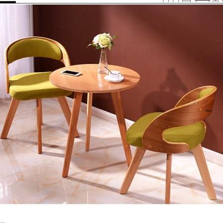 实木椅子现代简约休闲餐椅曲木北欧宜家用书桌