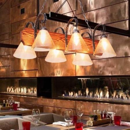 美式乡村吊灯餐厅客厅复古吊灯创意个性酒吧台欧式地中海led灯具