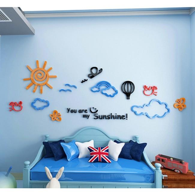 3d立体墙贴纸贴画装饰品防水壁纸墙纸自粘卡通儿童房卧室客厅创意