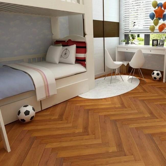 裸板大自然野生原木地板纯实木地板柚木地热地暖厂家
