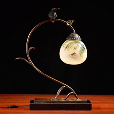一森诺玲珑翠鸟 创意新中式纯铜内画艺术品装饰摆件软装设计饰品