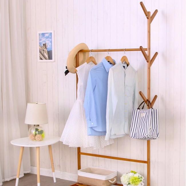 帽架客厅移动衣服架子简易衣架落地卧室欧式挂衣架子