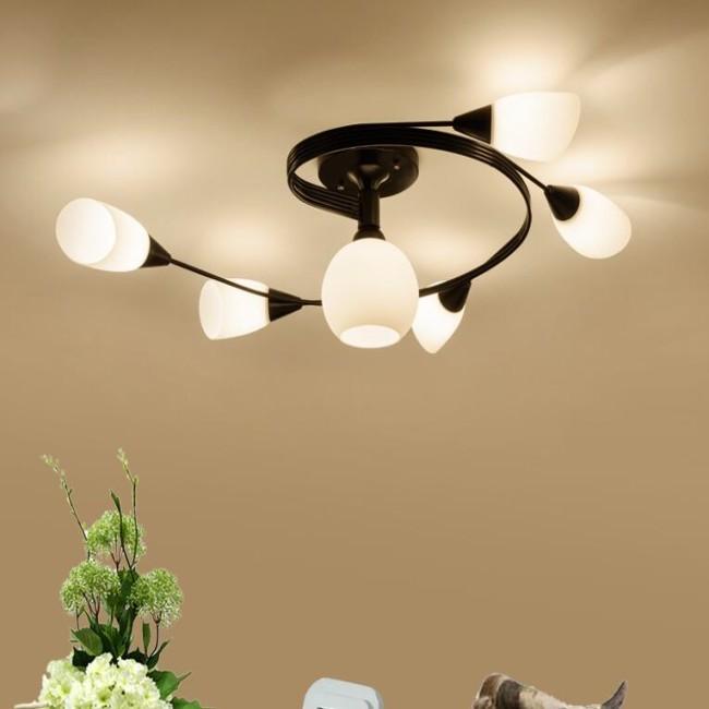美式简约现代吸顶灯客厅灯创意卧室灯玻璃餐厅灯北欧田园儿童灯具