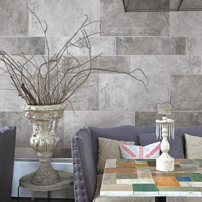 夢卡露瓷磚 簡約宜家水泥磚 客廳地板磚墻磚 陽臺灰色