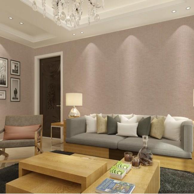 墙布无缝 简约纯色素色亚麻客厅壁布酒店别墅防水无纺布墙纸k1013