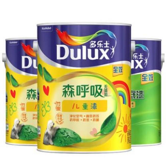 dulux漆多乐士森呼吸竹炭无添加全效儿童漆涂料内墙