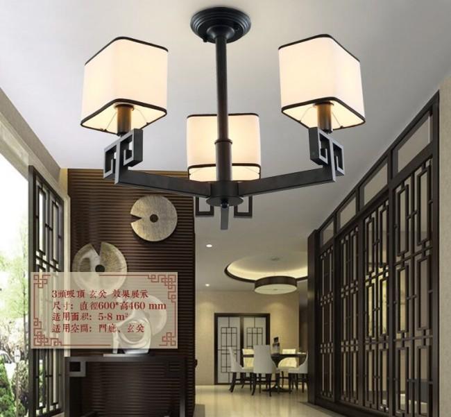铁艺吊灯欧式复古客厅灯餐厅卧室吊灯新中式布艺乡村吊灯